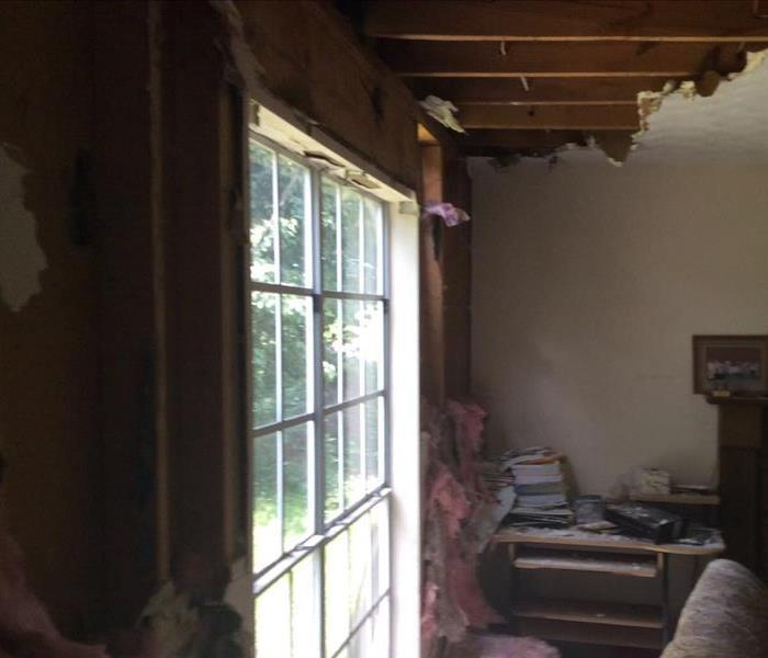 Damaged living room
