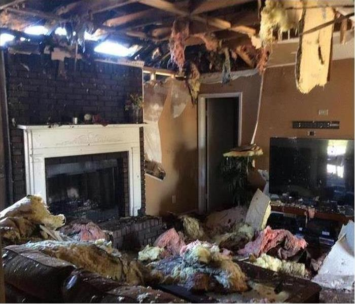 Living Room Fire Damage